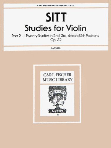 L111 - Sitt - Studies for Violin - Part 2 Op. 32