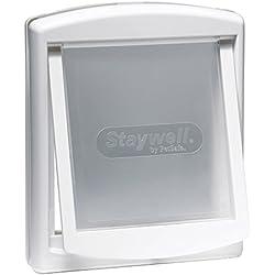PetSafe Original Plastic Pet Door with Hard Transparent Flap, White, Medium