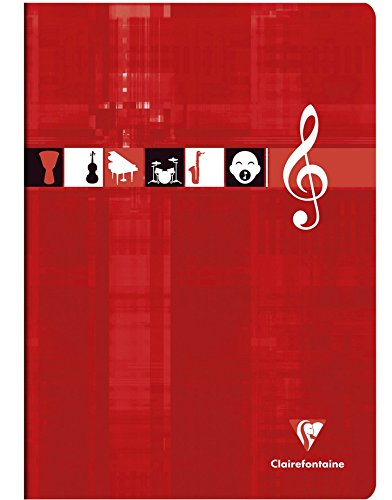 Clairefontaine 63117AMZC Lote de 2 cuadernos m/úsica y canto grapados