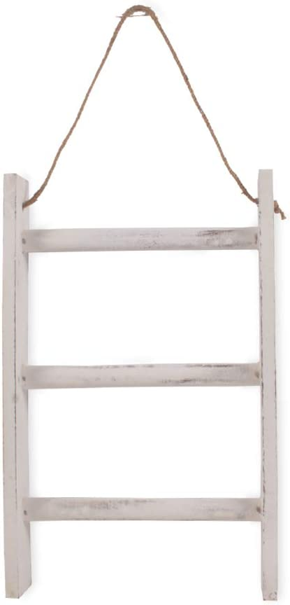"BHAVATU Farmhouse Rustic Wood Wall Mounted Towel Rack, Towel Rack for Kitchen, Bedroom, Home Decorative Storage Towel Rack 3-Tier, (10"" x 2.5"" x 22"")"