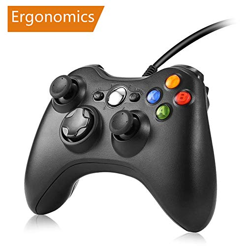 Xbox 360 Controller - RegeMoudal Xbox 360 PC Game Wired Controller for Microsoft Xbox 360 and Windows PC (Windows 10/8.1/8/7) with Dual Vibration and Ergonomic Wired Game Controller. by RegeMoudal