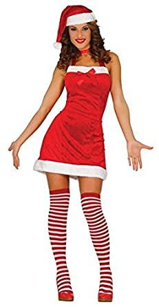 524e0d4d421 Image Unavailable. Image not available for. Colour  Ladies Sexy Fun Time Santa  Christmas Mrs Claus Xmas Party Festive Fancy Dress Costume Outfit 12