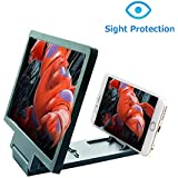 """ZYG.GG 8"""" Foldable Bracket Screen Magnifier Amplifier Enlarger Magnifier Zooms 2-4Times with Adjustable Angle & Distance, Movie Amplifier for All Smartphone"""