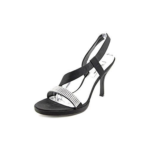 Nina Gloria Donne Nero Tessili Scarpe Vestito Sandalo Nuovo Eu 37