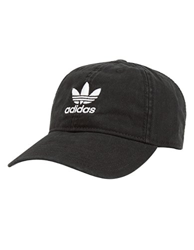 Soccer Black Hat - adidas Women's Originals Relaxed Fit Cap, One Size, Black/White