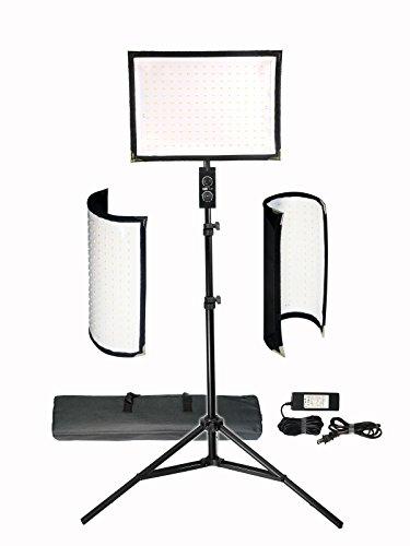 Vidpro FL-180 Flexible Vari-Color LED Light Panel Kit with Stand