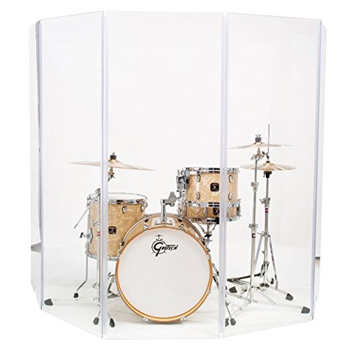 Acrylic Drum Shield - Drum Shield Drum Screen Drum Panels DS6L Six 2ft X 6ft Panels with Living