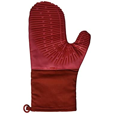 OXO Good Grips Silicone Oven Mitt with Magnet, Cherry Red