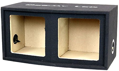 Embroidered Carpet - Double 11-in Square Openings for two 12-in Square Woofers Dual Central Tuned Ports With Isolated Central Air Chamber 3/4 MDF Carpet With Quality Embroidered Stitched Logo DEEJAY LED 2X12SQUARESEALED