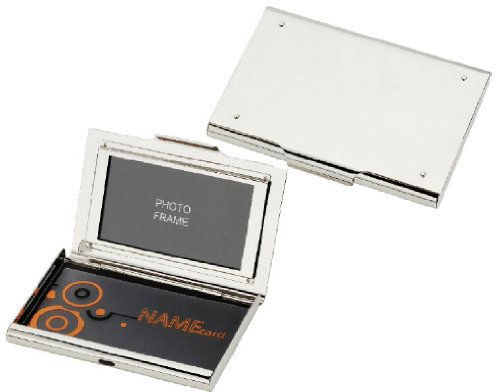 Visol Products Athena Mirror Finish Business Card Holder with Built-In Photo (Athena Finish)
