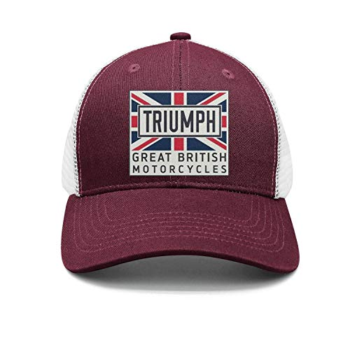 (Mens/Womens Triumph-Motorcycle-Maroon Fashion Baseball hat Adjustable Snapback Cap)