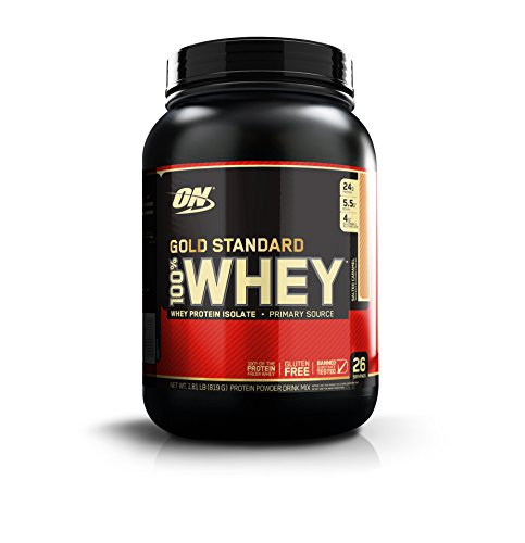 Optimum Nutrition Gold Standard 100  Whey Protein Powder  Salted Caramel  1 8 Pounds