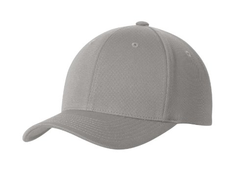 Premium Flex Fit Hat - High Performance Cool & Dry Baseball Caps in 7 Colors Grey Heather - Flex Fit Baseball