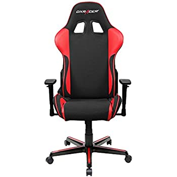 DXRacer Formula Series DOH/FH11/NR DX Racer Racing Office Chair Recliner Esport Dreamhack PC Gaming Chair Ergonomic Computer Fabric Chair Rocker Comfortable Chair With Pillows (Black/Red)