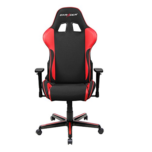 41tTtgbcgpL - DXRacer-Formula-Series-DOHFH11NR-DX-Racer-Racing-Office-Chair-Recliner-Esport-Dreamhack-PC-Gaming-Chair-Ergonomic-Computer-Fabric-Chair-Rocker-Comfortable-Chair-With-Pillows-BlackRed