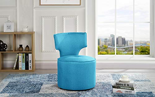 Modern Upholstered Accent Chair (Sky Blue)