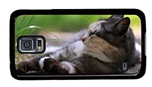Hipster shop Samsung Galaxy S5 Case snooze cat PC Black for Samsung S5
