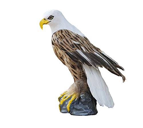 ZILIN Handmade Plastic and Feathered Bald Eagle, Bird for sale  Delivered anywhere in USA