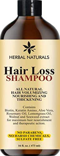 Premium Hair Loss Shampoo - Infused with Biotin, Rosemary Oil, Natural Ingredients - Provides Hair Growth Stimulation, Hair Thickening, Nourishment adds Volume, All Hair Types Men and Women 16 fl Oz