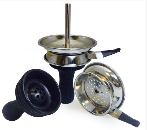 NEW! Silicone Hookah Bowl with Metal Charcoal Lid - Indestructible Hookah - Indestructible Most Metal