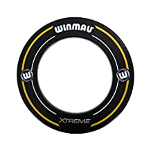 Winmau Professional Dartboard Surround with Printed Winmau Logo in Blue by Atlantic Dart Warehouse (Xtreme2 Black)