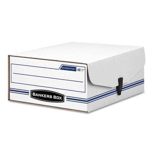 Liberty Binder-Pak Storage Box, Letter, Snap Fastener, White/Blue, Sold as 1 ()