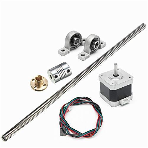 Aluminium 8mm Lead Screw Rod 250mm 4 Start Z Axis Linear Rail Bar Shaft For 3D Printer New