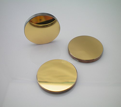 Price comparison product image 3x HQ Si Plated Gold Reflective Mirrors for CO2 Laser Engraver Cutter D:25mm