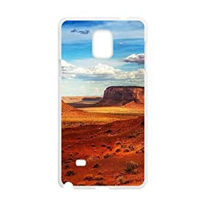 Brown Mountains White Phone Case for Diy For SamSung Galaxy S6 Case Cover