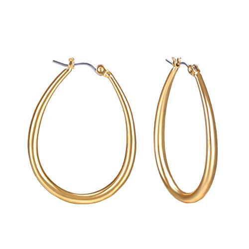 FAMARINE Gold Hoop Earrings, 1.5