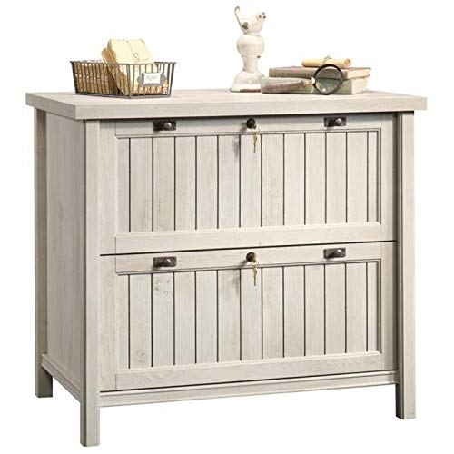 Pemberly Row 2 Drawer Wood Lateral Letter/Legal File Cabinet in Chalked Chestnut by Pemberly Row