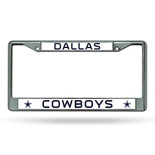 (NFL Dallas Cowboys Chrome License Plate Frame,12-Inch by)