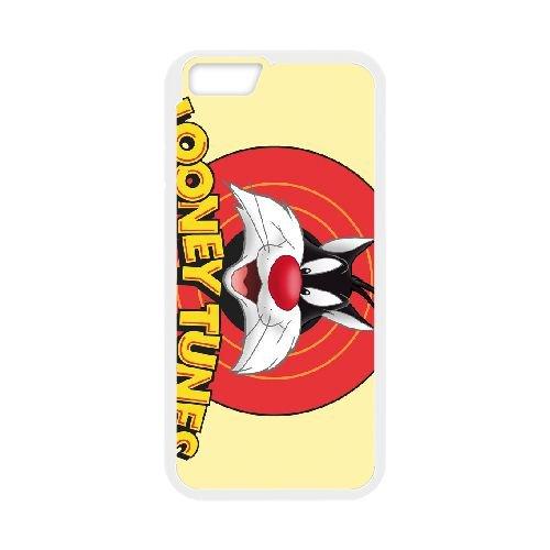Sylvester Cat Looney Tunes Wide coque iPhone 6 4.7 Inch cellulaire cas coque de téléphone cas blanche couverture de téléphone portable EEECBCAAN08579