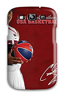 New Style 8916685K16300289 For AnnaSanders Galaxy Protective Case, High Quality For Galaxy S3 Carmelo Anthony Skin Case Cover