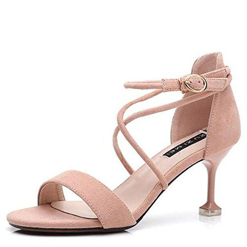 sandal Women balck women 7cm fashion heel 2018 high night sandal tied night thin cross women party 6 lady sexy shoes newest club HBqFp