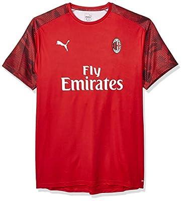 PUMA Men's A. C. Milan ACM Training Jersey Ss with Sponsor Logo