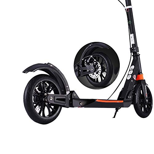 Alloy Dual Suspension - Foldable Kick Scooter for Adults Teens, Commuter Scooter with 2 Big Wheels Aluminum Alloy Fram Dual Suspension, Support 150KG