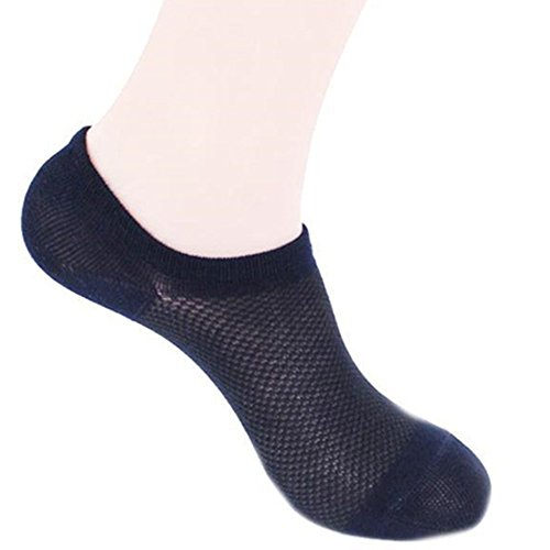 6 PAIRS Women's Low Cut Bamboo Breathable Socks with Laundry Bag (Black) by Q.T. Bamboo