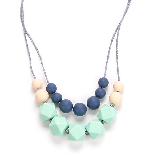 BEBE by Me 'Harper' Hard + Soft + Cushy Beads All-in-1 Teething Necklace