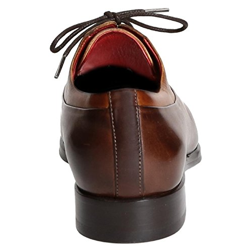 Leonardo Shoes Uomo 06460vitellodelavebrandy Scarpe Stringate In Pelle Marrone