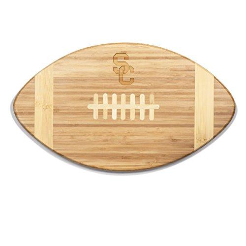 Football Trojans Ncaa - NCAA USC Trojans Touchdown! Bamboo Cutting Board, 16-Inch