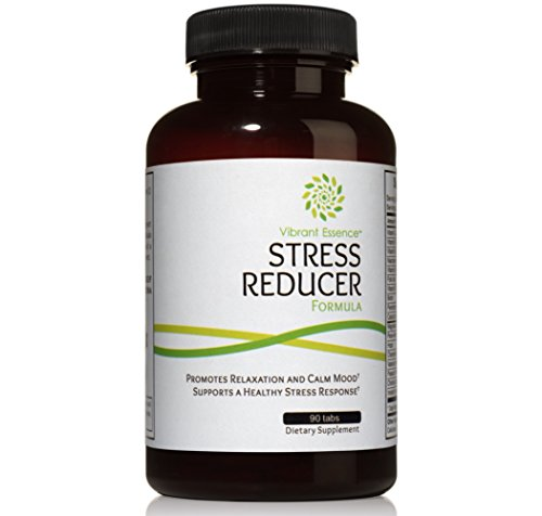 Cheap Calming Stress Relief and Anxiety Supplement with 18 natural ingredients: Valerian, Chamomile, Hops, Passion Flower, megadose Vitamins B and C and more. Promotes serene and tranquil mood.
