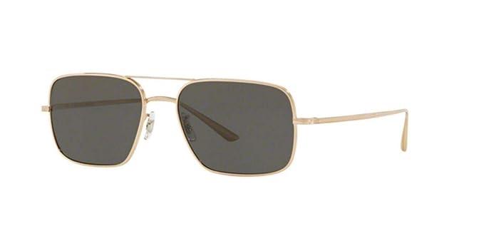 New Oliver Peoples 0OV1246ST VICTORY LA 5292P2 WHITE GOLD Polarized Sunglasses