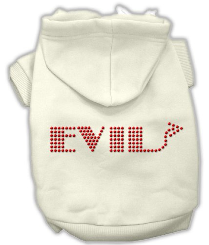 Mirage Pet Products 16-Inch Evil Hoodies, X-Large, Cream