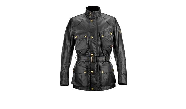 Amazon.com: Belstaff Trialmaster 2.0 wax cotton jacket black S: Automotive