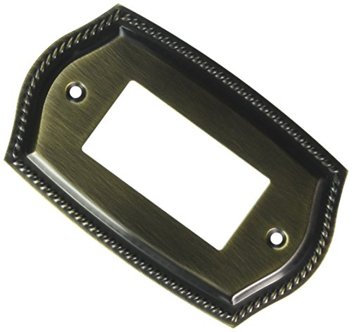 Baldwin 4796050 Single GFCI Rope Switch Plate, Antique Brass