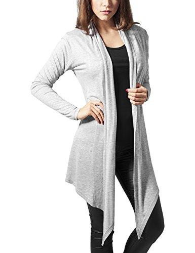 Urban Classics Ladies Viscose Cardigan, Abrigo para Mujer Gris (Grey)
