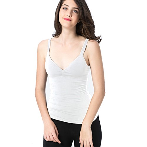 be934c28447 Ibeauti Women s Camisole Tops with Built in Bra V-Neck Padded Tank ...
