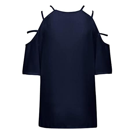 Blusas Hombros Descubiertos Mujer Top Informal de Gasa sin Tirantes Cuello en V sin Tirantes Camisetas Sin Mangas Mujer Fiesta de Tops Mujer Sexy Verano ...