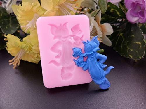 1 piece 3D (Tom and Jerry) the cartoon cat and mouse silicone fondant mold for cake decoration/chocolate mould cake tools F346